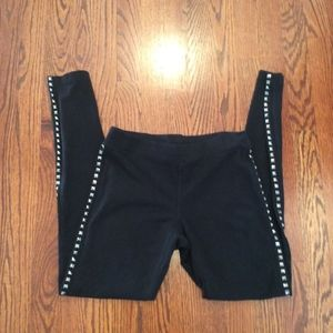 Express black studded leggings SZ S